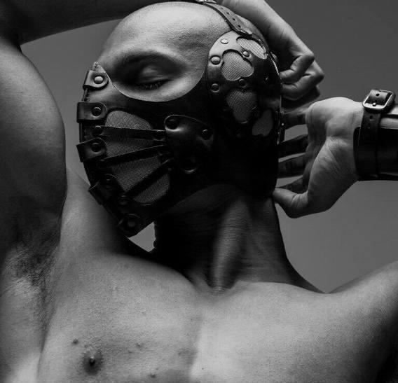Black Pilot 4 Art Leather Steampunk Gas Muzzle