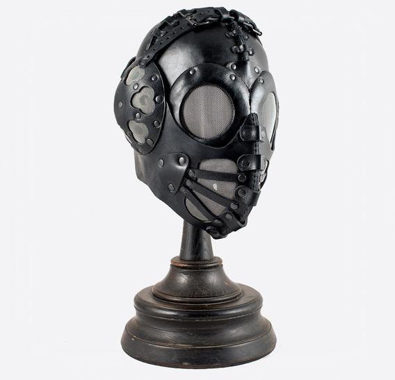 ΣΑΛΩΜΗΣ bag Black Pilot 4 Art Leather Steampunk Gas Mask