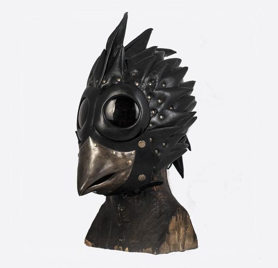 Bird Brass Beak Art Leather Mask