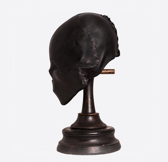 Black Skull Mummy Art Leather Mask