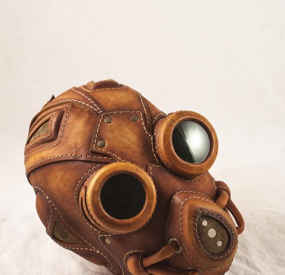 BLMGG Art leather gas mask