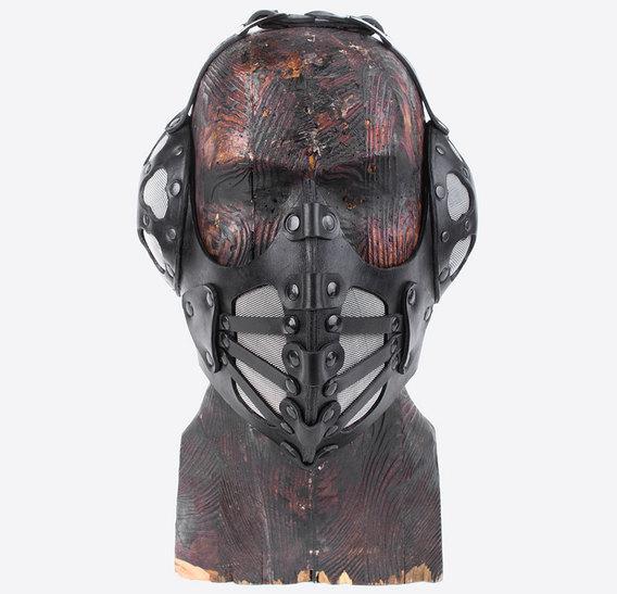 Black Pilot 4 Art Leather Steampunk Gas Mask