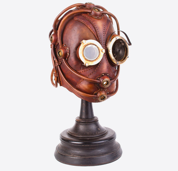 Brown Leather Art Gas Mask
