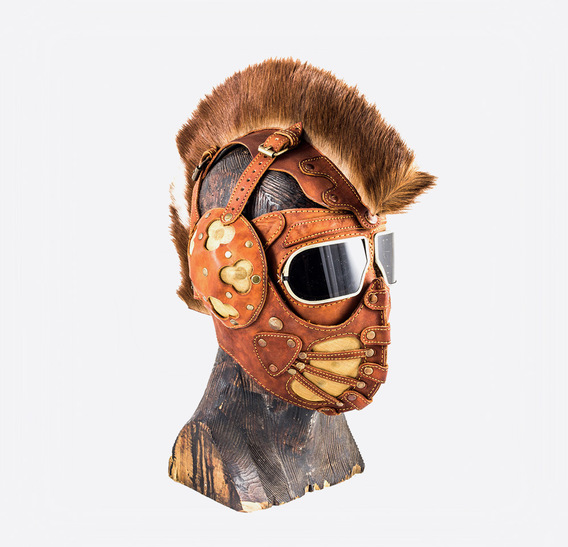 Ginger Mohawk Art Leather Mask