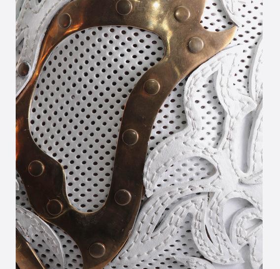White Lace Steampunk Leather Art Gasmask 1
