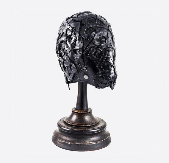 Mashrabiya Black Art Leather mask