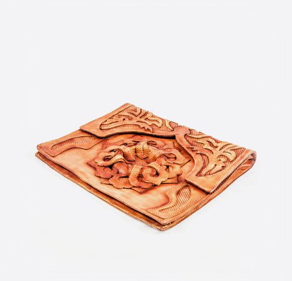 Mashrabiya Ginger leather bag