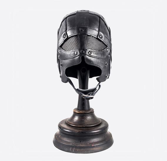 Mashrabiya Gladiator Black Art Leather Mask