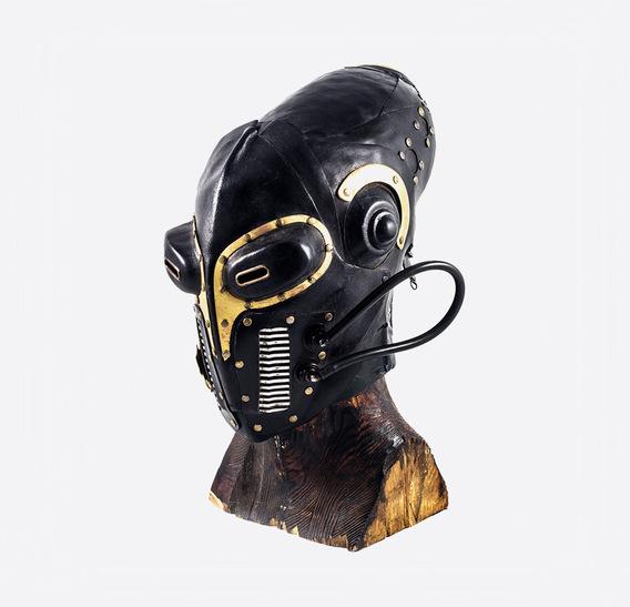 Maya Steampunk Leather gas Mask