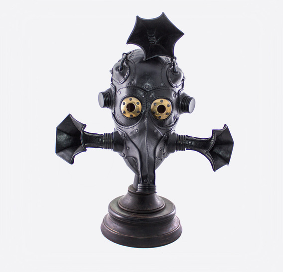 Mosquito Steampunk Leather Art Gasmask