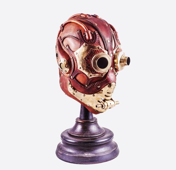 BLBG Steampunk Art Leather Gas Mask