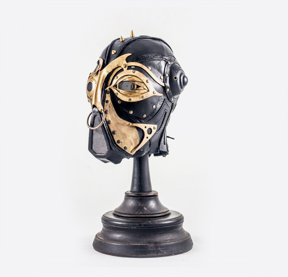 Senior Inspector Steampunk Art Leather Mask