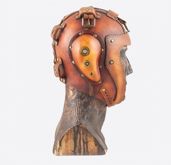 Brown Leather & Brass Art Gas Mask