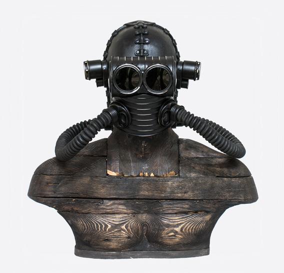 CC Steampunk Art Leather Gas Mask $