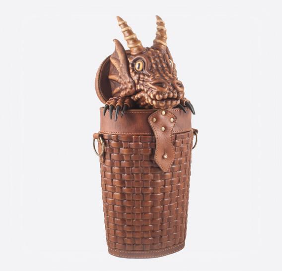 Dragon In Basket Leather Bag-Backpack