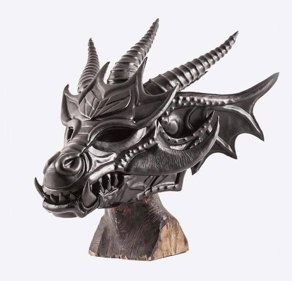 GARA Black Dragon art leather Mask
