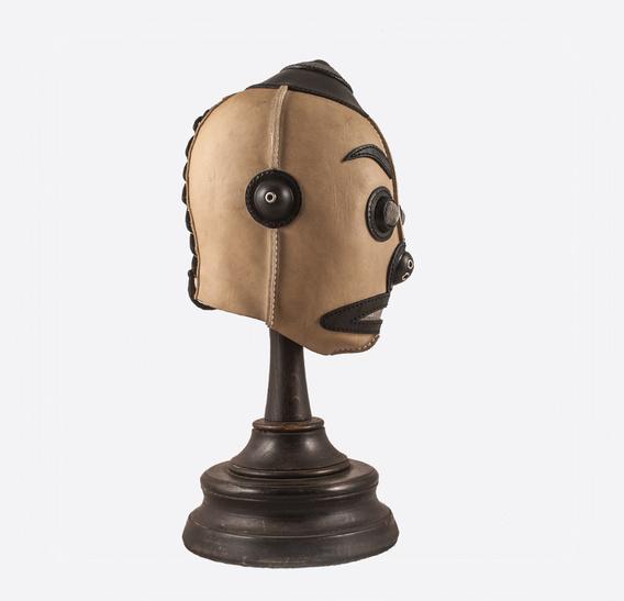 Steampunk White Clown art leather mask