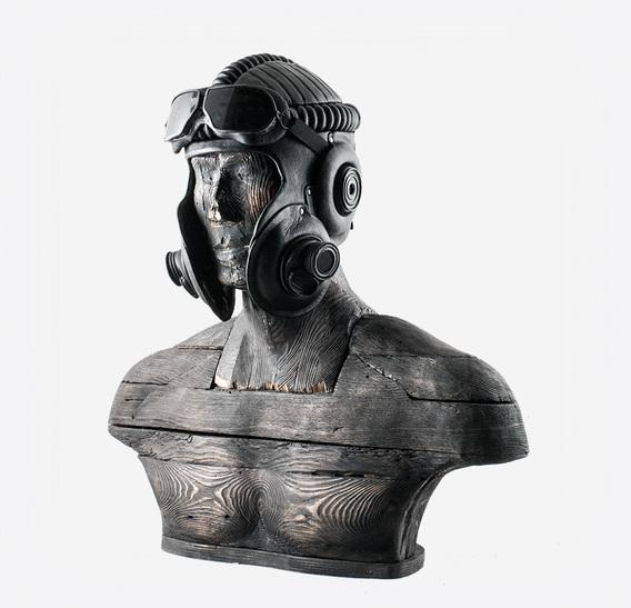 Tank Crew Commander Helm Art Leather Gas Mask