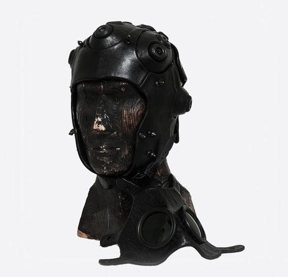 Tank Crew Loader Helm Art leather Gas mask