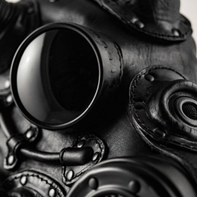 Cyber Horse art leather Gas Mask