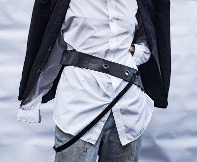 Black Leather Unisex Harness