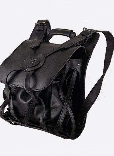 Avoska Leather Sackcloth Backpack