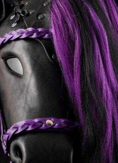 Black & Purple Horse Mask